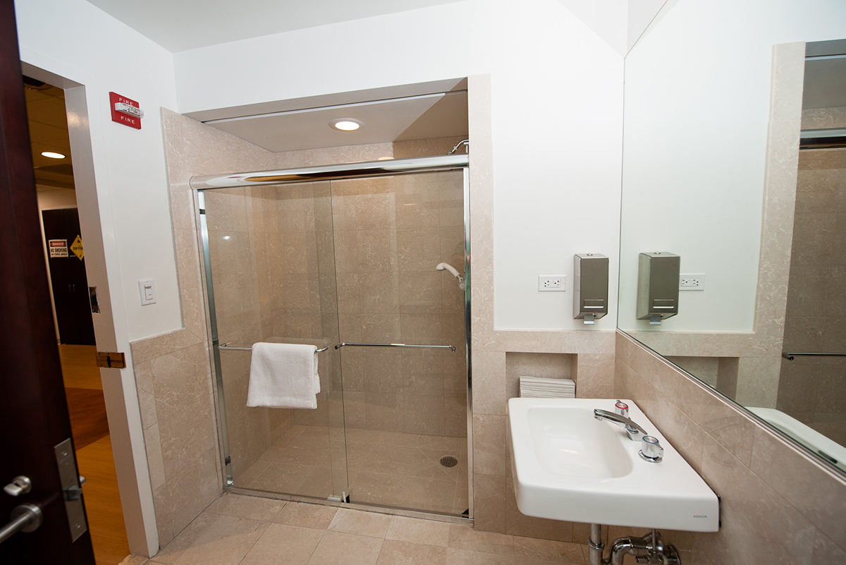 Bathroom facilities at the Weill Cornell Medicine pediatric sleep center