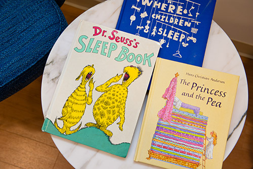 Close-up of children's books